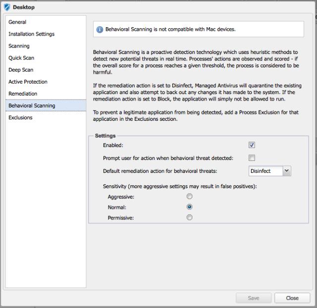 Managed Antivirus per Mac