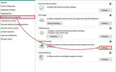 Configurare Kaspersky Security for Windows Server per Chrome