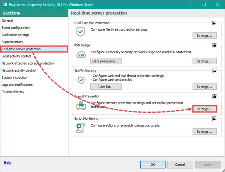 Kaspersky Security for Windows server